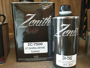 Zenith High Gloss Urethane Universal Gallon Clearcoat Kit 4 1 High Teck