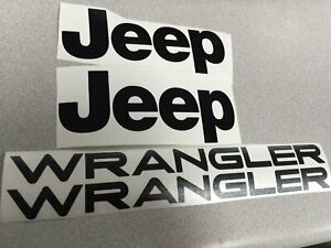 Set Of Wrangler Replacement Stickers Decals For Yj Tj_car Black