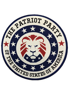 The Patriot Party Sticker Trump 2024 Maga Usa Lion American Decal Waterproof