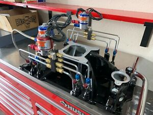 Manifold Aluminum Small Block Chevy In take Manifold With Nos Fogger System