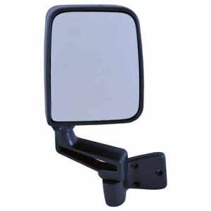 Foldaway Manual Mirror Head Half Door Model Black For 87 06 Jeep Wrangler Left
