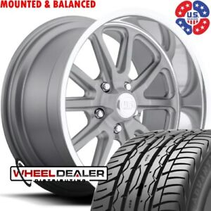 20 Staggered Us Mags Rambler U111 Wheels Tires For Chevy Gmc C10 Square Body