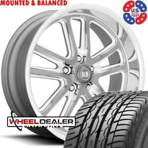20 Inch Staggered Us Mags Bullet U130 Wheels Tires For Chevy Gmc C10 Squarebody