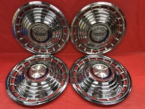 Vintage Set Of 4 1963 Ford 14 Hubcaps Galaxie 500 Fomoco