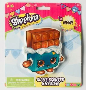 Shopkins Eraser Cheeky Chocolate Giant Scented Eraser Ages 6 New