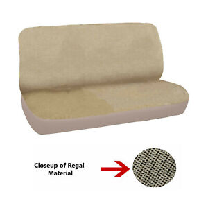 New Universal Deluxe Full Size Bench Truck Seat Cover Regal Beige 2pc