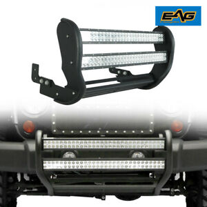 Eag Double 30 Inch Led Bull Bar Push Bumper Grille Guard Fit 2007 2018 Jeep Jk