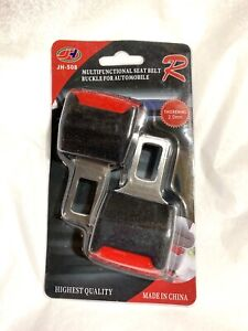 2x Car Safety Seat Belt Buckle Extension Extender Clip Universal