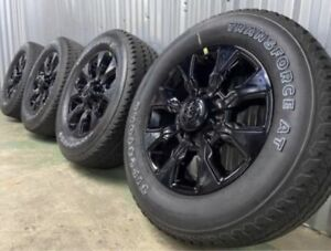 20 Dodge Ram 2500 3500 Black Wheels Rims Tires Oem 2018 2019 2020 2021