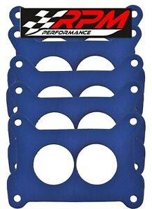 Holley 2 barrel Base Plate Gasket Non stick Blue 4412 500 Cfm 5 Pack G32