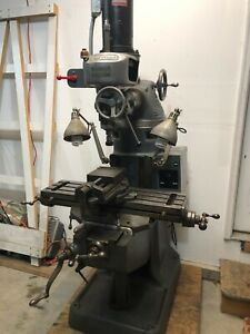 Bridgeport 110vac M Head Variable Speed Spindle Round Arm Style Mill Machine