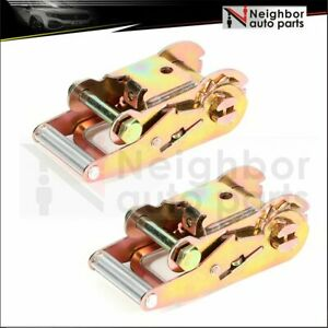 2 Ratchet Tow Dolly Hauler Webbing Flat Bed Straps Tie Down Pair