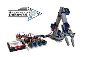 Diy Robotic Arm Claw Arduino Kit With Online Tutorial Course Spearhead Robotics