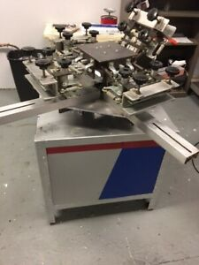 Antec Tracer 4 Color 4 Station Screen Printing Press