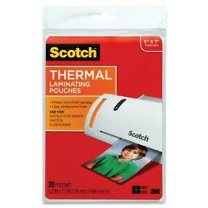 3m Corp Scotch Thermal Laminating Pouches 5 X 7 inches 20 pouches tp5903 20