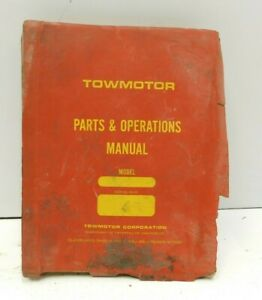 Towmotor 4225 4625 5025 Forklift Parts Operations Manual Service Book
