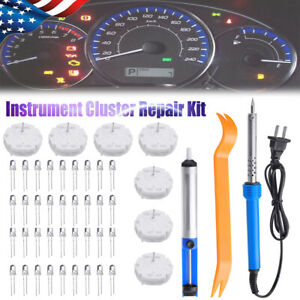 Speedometer Instrument Cluster Gauge Repair Kit Stepper Motors 36 Led For Gm