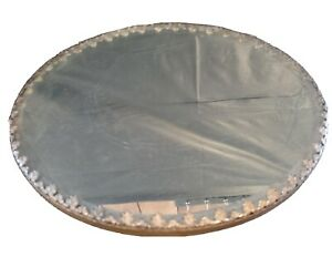 Large Silverplate Plateau Original Beveled Mirror Rococo Styling Great Look