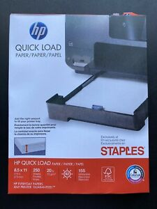 Staples Hp Quick Load Paper 8 5 X 11 250 Sheets New Shipped Fast
