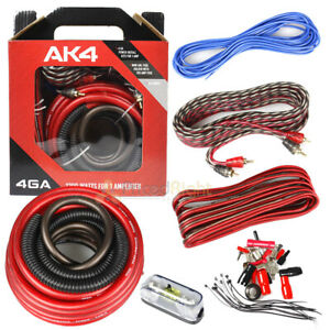 Ds18 4 Gauge Amp Kit Amplifier Install Wiring Complete 4 Ga Wire Car Audio New