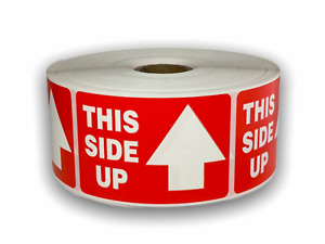 Arrow This Side Up Caution Warning Shipping Stickers 2 x3 1000 Labels