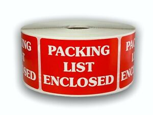 Packing List Enclosed Shipping Stickers 2 x3 1000 Labels P r 20 Rolls