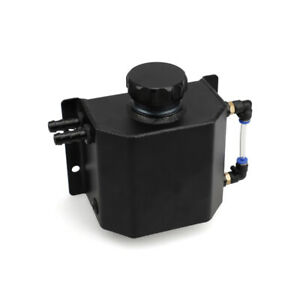 1l Aluminum Coolant Overflow Tank Bottle Recovery Reservoir Container Universal