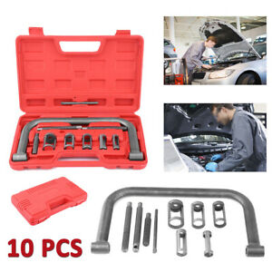 Valve Spring Compressor C Frame Service Atv Auto Motorcycle Pusher Tool Set box