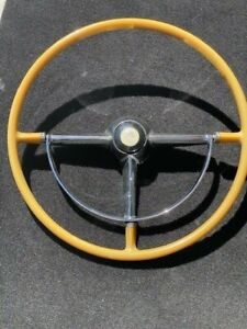 1947 1948 Cadillac Recast Steering Wheel Horn Ring And Hub Cap For 47 48