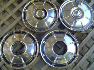 2 Ih International Travel All Pickup Truck Scout Hubcaps Center Cap Wheel Covers