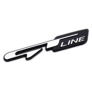 3d Car Gt Line Logo Emblem Badge Rear Trunk Lid Fits Kia Optima Sport 86325d4000