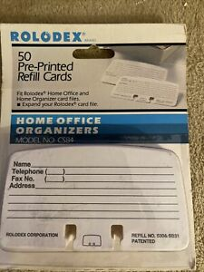 Rolodex Pre Printed Refill Cards 50 Cards 2 1 4 X 4 Lined Cs84 B2 Bin25