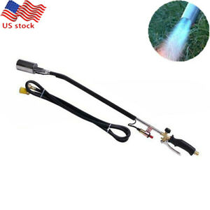 Electronic Gas Propane Torch Weed Burner Brass Soldering Garden Tool W 79 Hose