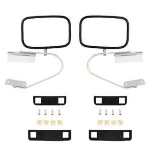 Lh Rh Towing Mirrors For 1991 94 Ford Explorer Manual Stainless Steel Chrome