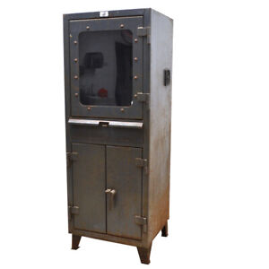 Strong Hold 26 cc 242 rk Industrial Computer Cabinet 26 w X 24 d X 66 2 shelves