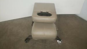 99 07 Ford F250 F350 Excursion Front Center Console Jump Seat Tan Oem Cloth