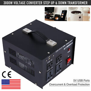 3000w Voltage Converter 220 To 110 And 110 To 220 Step Up Step Down 5v Usb Sw