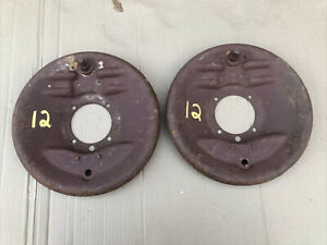 1930 1931 Model A Ford Front Backing Plates Brakes Tudor Coupe Pickup 30 31 12