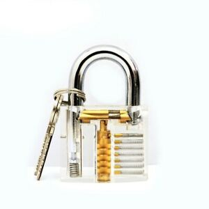el 2 Clear Perspective Training Tool Locksmith Transparent Motion Safety Lock