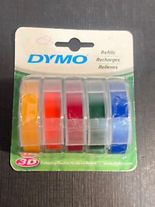 Dymo Embossing Tape 3 8 X 4 Rainbow 5 Color Pack 99786