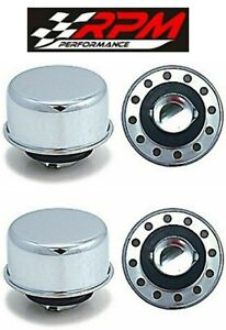 Chrome Oil Breather Cap Valve Cover Twist On In Fits Aluminum Covers A25x 2 Pack