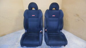 2006 2011 Honda Civic Si Coupe Front Cloth Bucket Seats Rh Lh Black Oem