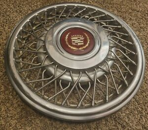 1 1989 93 Cadillac Deville Seville Eldo 15 Wire Spoke Hubcap Wheel Cover G1