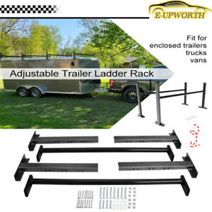 Adjustable Roof Ladder Racks For 4 7 Wide Enclosed Trailers Cargo Vans Trucks