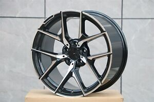 20 Mercedes Benz New Y Spoke Style Black Machined Staggered Rims Wheels 5x112