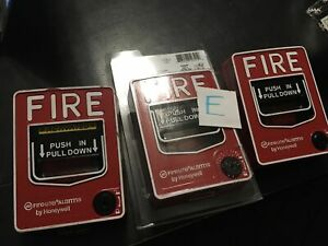 Lot Of 3 Fire Lite Alarms Bg 12 Dual Action Pull Station