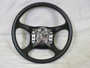98 02 Chevy Silverado Steering Wheel Black Leather Sierra