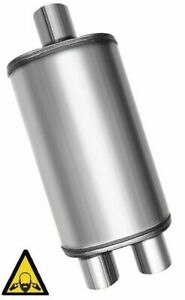 Single To Dual Exhaust Performance Muffler 2 25 Inlet To 2 25