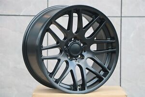 19 Matte Black M3 Style Rims Fits Bmw F32 F33 4 Series 428 435 E92 Staggered