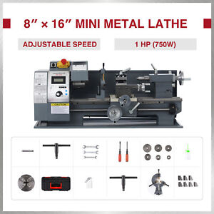 1hp 8x16 Inch 2250rpm Mini Metal Lathe W Brushless Motor 3 jaw Chuck